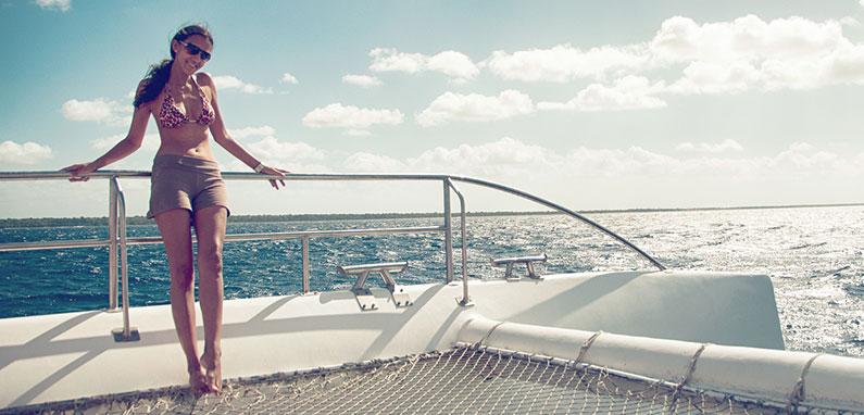 woman-on-catamaran-in-montego-bay-jamaica