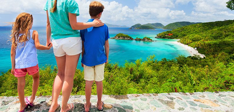 family-lookout-caribbean-mountains