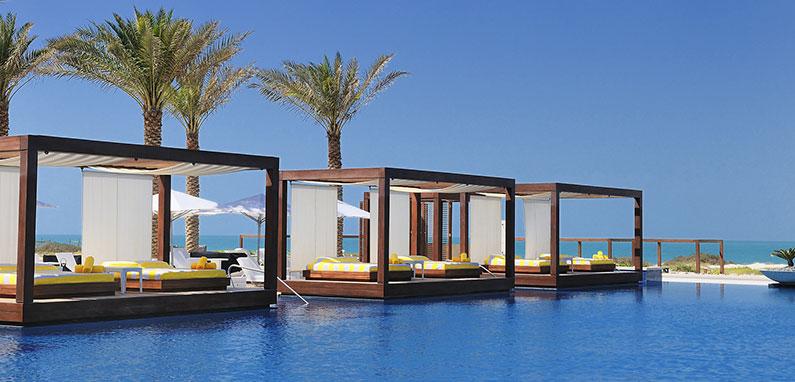 Luxury Pool Cabanas with Ocean Views